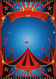 Sky night circus. Poster of a circus by night Royalty Free Stock Photos