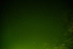Sky at night green Stock Photo