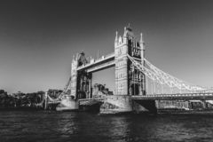Tower bridge in london in black and white royalty free stock photos