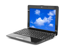 Sky on notebook screen Stock Image