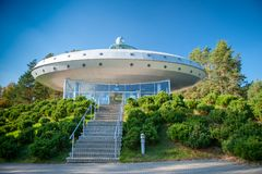 A sky observatory and ethnocosmology museum stock images