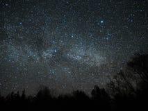 Night sky and milky way stars, Cygnus and Lyra constellation royalty free stock image