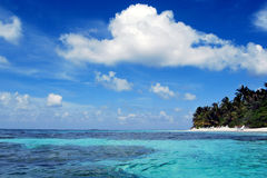 Sky and ocean. In Maldives Royalty Free Stock Images