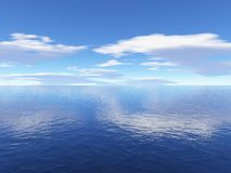 Sky and ocean. Render Stock Photography