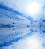 Sky ocean abstract background Royalty Free Stock Photos