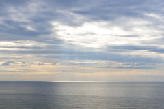 Sky and ocean at early morning Royalty Free Stock Image