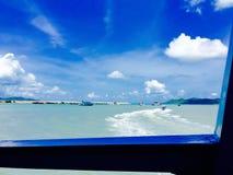 Sky och hav Fotografering för Bildbyråer