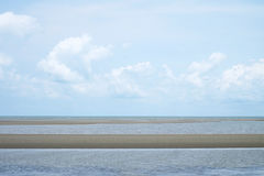 Sky och hav Arkivfoto