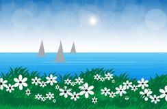 Sky och hav royaltyfri illustrationer