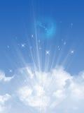 Sky och oklarheter vektor illustrationer