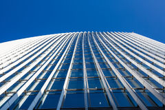 Sky and office building. Sky, office building, looking up the building stock photos