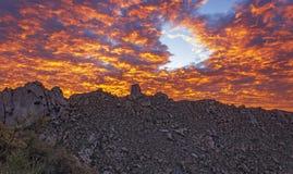 Free Sky On Fire Sunset Near Scottsdale, Arizona Royalty Free Stock Photography - 179024397