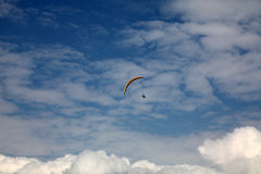 The sky. One people playing sport in the sky Royalty Free Stock Photography
