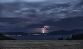 The sky is opening. Picture of lightning in the sky Royalty Free Stock Photography