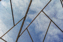 The sky outside mesh dome.  Royalty Free Stock Image