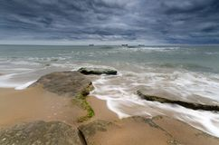 Sky over Black sea - Bulgaria royalty free stock photo