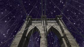 Sky over Brooklyn Bridge Stock Image