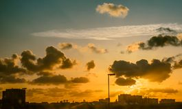 Sky over city The Hague Royalty Free Stock Photography