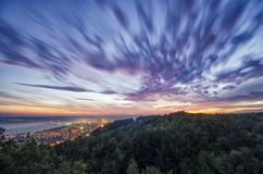 Sky over city stock photography