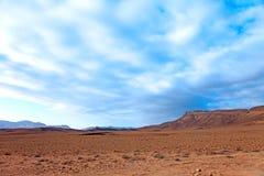 The sky over the desert. Interesting dynamic sky over the desert Royalty Free Stock Image