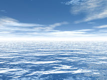 Sky over the Sea Royalty Free Stock Images