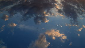 Sky over the sea timelapse stock footage