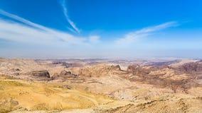 Sky over sedimentary rocks around Wadi Araba Stock Photography