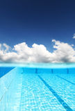 Sky over swimming pool Stock Image