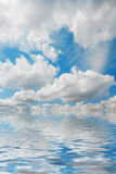 Sky over water Royalty Free Stock Photography