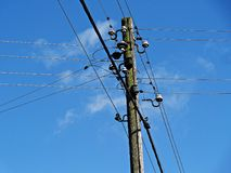 Sky, Overhead Power Line, Electricity, Electrical Supply royalty free stock image