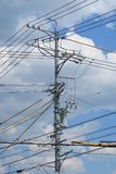 Sky, Overhead Power Line, Electricity, Transmission Tower royalty free stock image