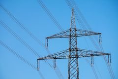 Sky, Overhead Power Line, Transmission Tower, Electricity Stock Photos