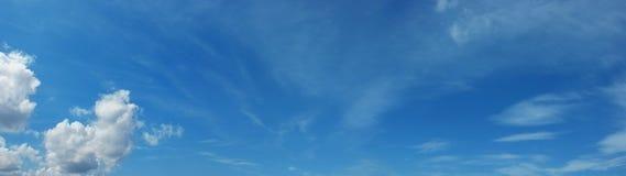 Sky panorama. Panoramic blue sky with white clouds Stock Image