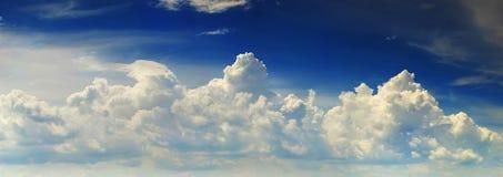 Sky panorama. Blue sky with beautiful clouds on it Stock Photos