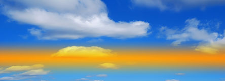Sky panorama Stock Images