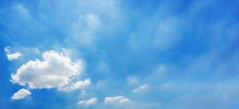 Sky panorama background Royalty Free Stock Image