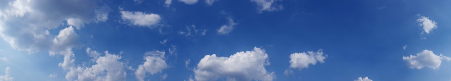 Sky panorama, high res. Royalty Free Stock Images