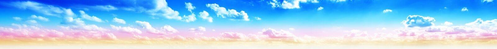 Sky panorama sunrise Royalty Free Stock Image