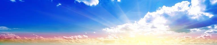 Sky panorama sunrise Royalty Free Stock Photo