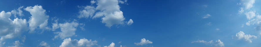 Sky panoramas, high res. Royalty Free Stock Photo