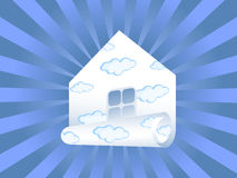 Sky paper house Stock Photos