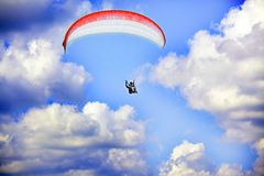 Sky paragliding Stock Images