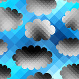 Sky pattern in pixel style Royalty Free Stock Photo