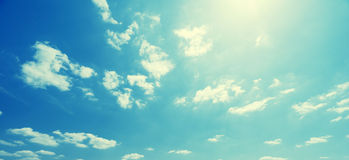 Sky and perfect sunny day Royalty Free Stock Images