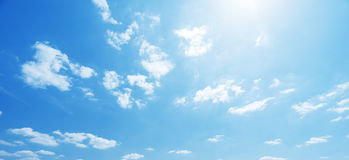 Sky and perfect sunny day Stock Images