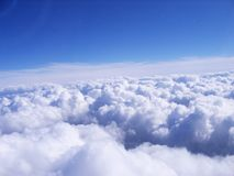 Sky photo from the top view. Take photo from the plane Royalty Free Stock Photography