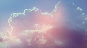 sky pink and blue Royalty Free Stock Image