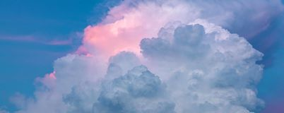 Sky pink and blue colors.sky abstract background.  stock photography