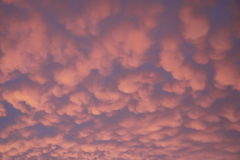 Sky: pink blue sunset clouds Australia Stock Photo