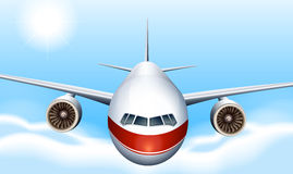 A sky with a plane. Illustration of a sky with a plane Royalty Free Stock Photo